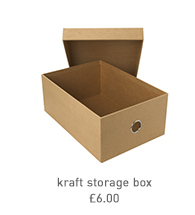 kraft storage box