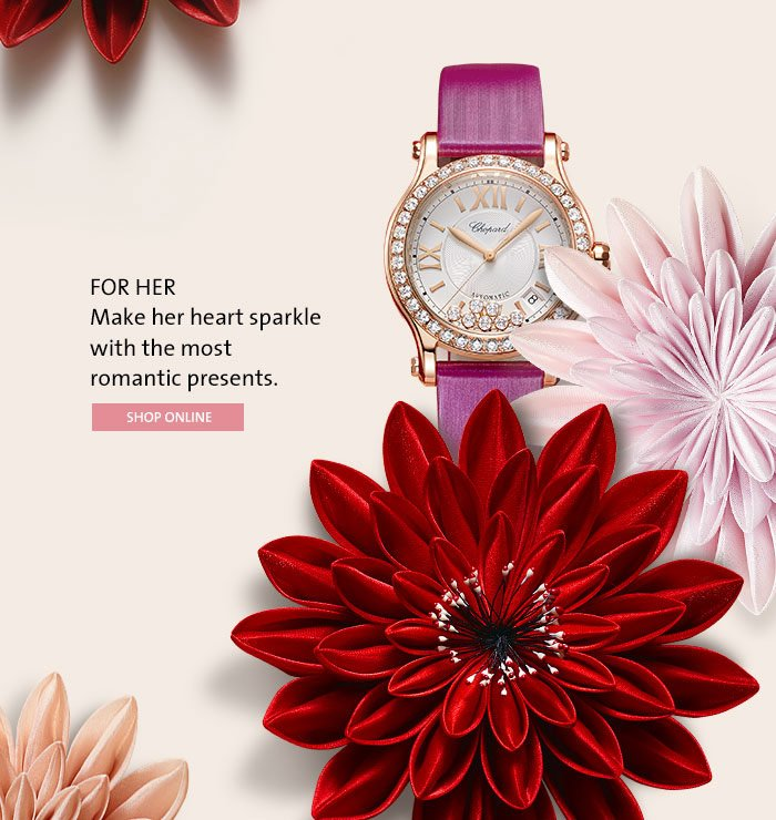FOR HER Make her heart sparkle with the most romantic presents.