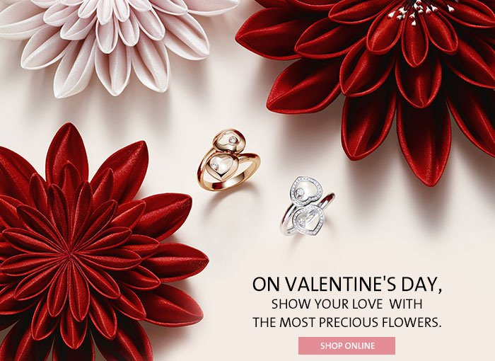On Valentine's day, show your love  with the most precious flowers.