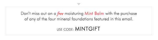 Mint Gift with purchase