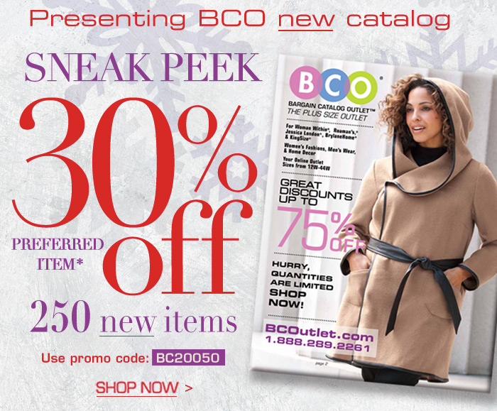 Presenting BCO New Catalog - Sneak Peek 30 off 250 new items!