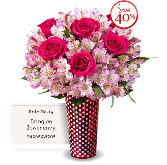 Save 15%* on Valentine's flowers & gifts with Promo Code INTVDAY15 Shop Now