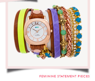 Feminine Statement Pieces