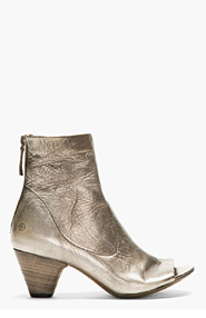 MARSÈLL Silver worn leather Ankle boots for women