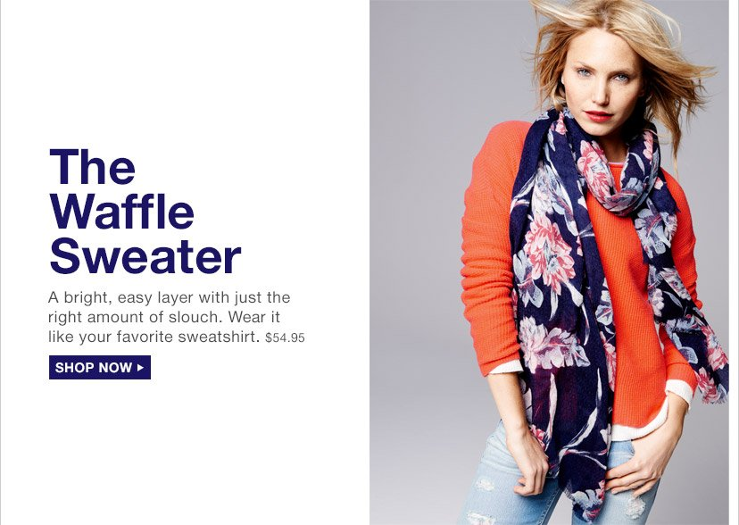 The Waffle Sweater | SHOP NOW