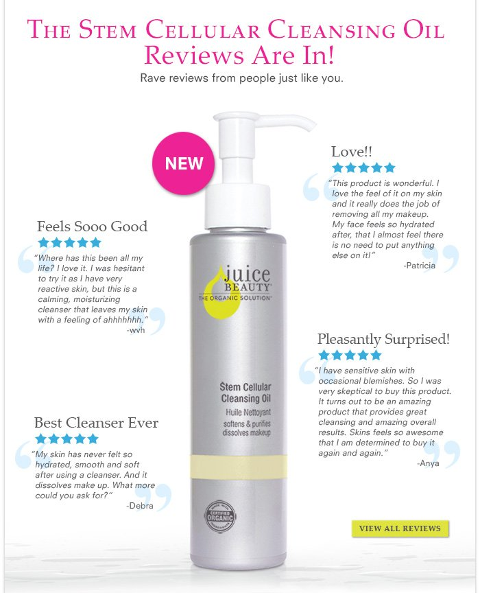 The Stem Cellular Cleansing Oil  Reviews Are In!