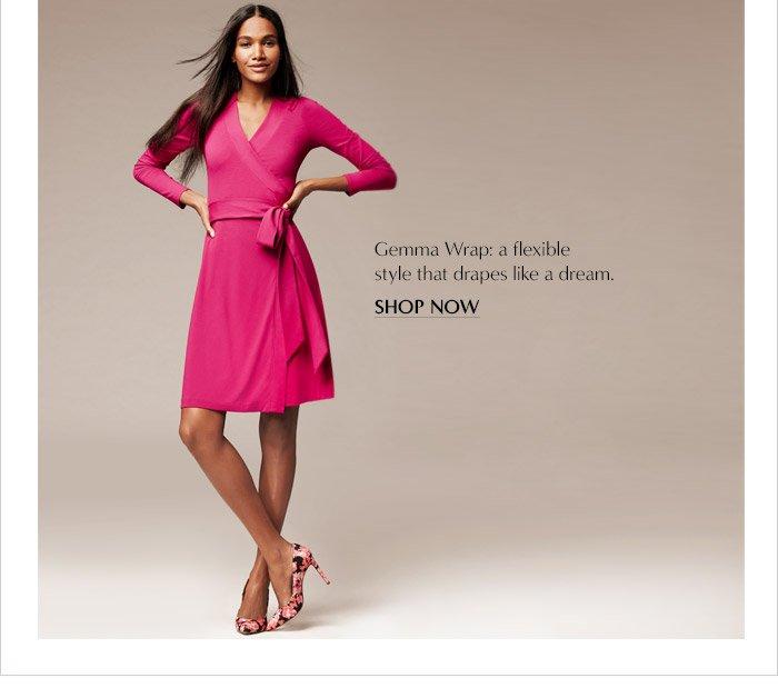 Gemma Wrap: a flexible style that drapes like a dream. | SHOP NOW