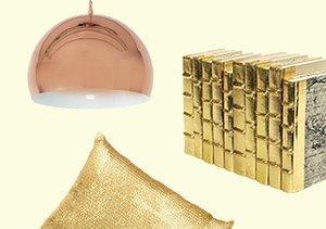 Luxe Gleam: Brass, Copper & Gold