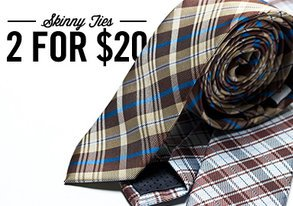 Shop 2 for $20: NEW Skinny Ties