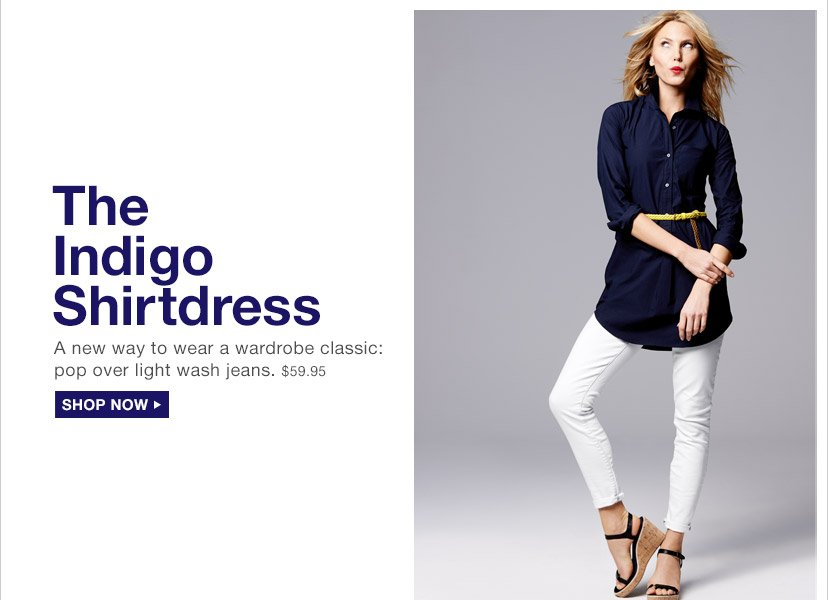 The Indigo Shirtdress | SHOP NOW