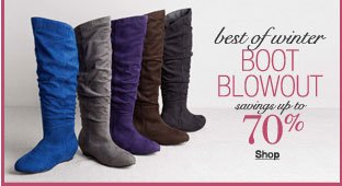 best of winter boot blowout savings up to 70%