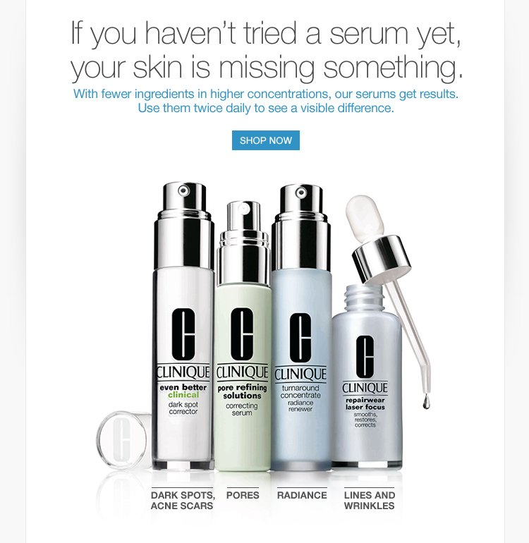 Our serums get results.
