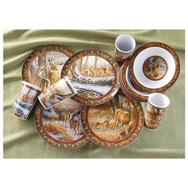 12-Pc. Melamine Dinnerware Set