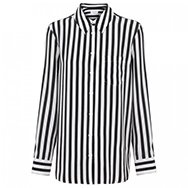 EQUIPMENT - Reese striped monochrome silk blouse