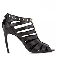 ALEXANDER MCQUEEN - Leather cage sandals