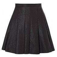 FINDERS KEEPERS - Pleated faux leather skirt