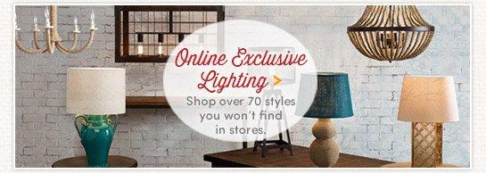 Shop Online Exclusive Lighting