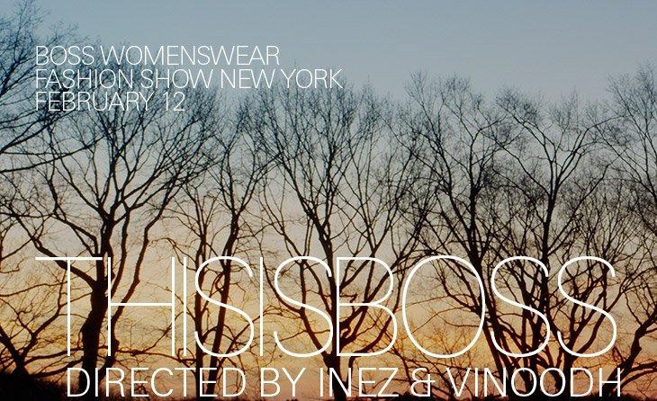 BOSS WOMENSWEAR FASHION SHOW NEW YORK, FEBRUARY 12