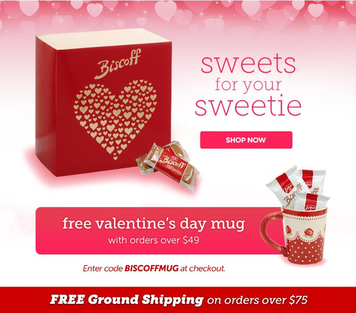 sweets for your sweetie - free valentine's day mug with orders over $49