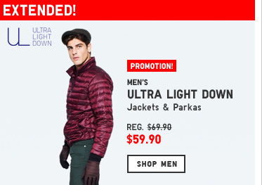 Men's Light Down Promotion