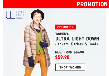 Women's Ultra Light Down Promotion