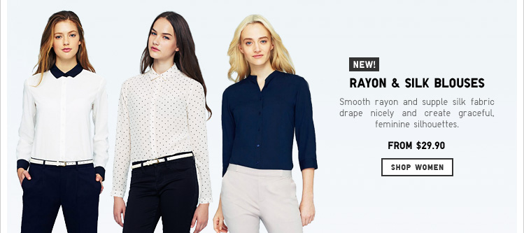 Women's Rayon and Silk Blouses