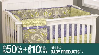 Up to 50% off + Extra 10% off Select Baby Products**