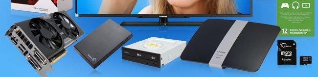 VGA, HDD, ODD, Networking, Xbox, SDcard