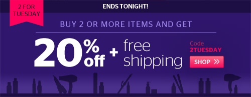 2 For Tuesday! Buy 2 Items and Get 25% Off + Free Shipping