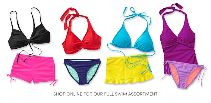 SHOP ONLINE FOR OUR FULL SWIM ASSORTMENT