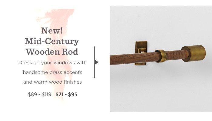 New! Mid-Century Wooden Rod.