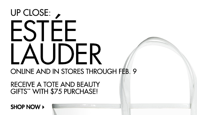 Estee Lauder tote and gifts: Up Close Event