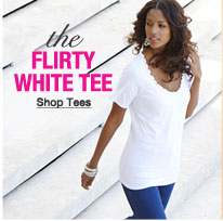 the flirty white tee