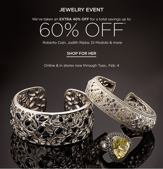 Up to 60% off Jewelry Event