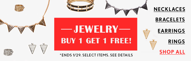Jewelry: Buy One Get One Free!