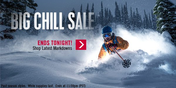 Big Chill Sale End Tonight