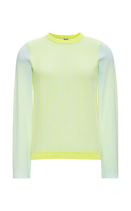Colorblock Cashmere Two-Tone Sweater