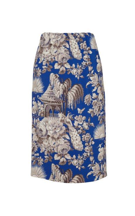 Vanna Pagoda Print Skirt
