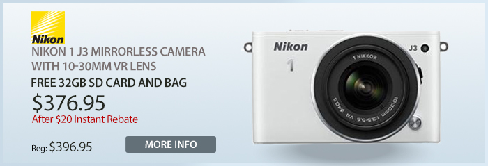 Adorama - Nikon 1 J3 Mirrorless Camera