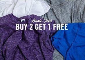 Shop Buy 2 Get 1 Free: Basic Tees