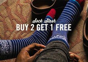Shop Sock Stash: Buy 2 Get 1 Free