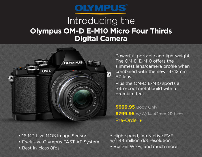 Olympus OM-D E-M10 Micro Four Thirds Digital Camera