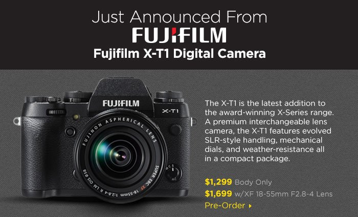 Adorama -  Just Announced Fujifil X-T1 Digital Camera