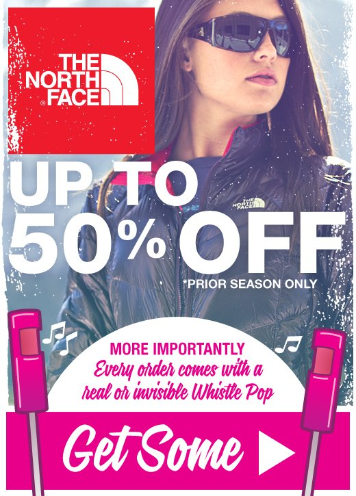 Up to 50% off North Face Winter Clearance