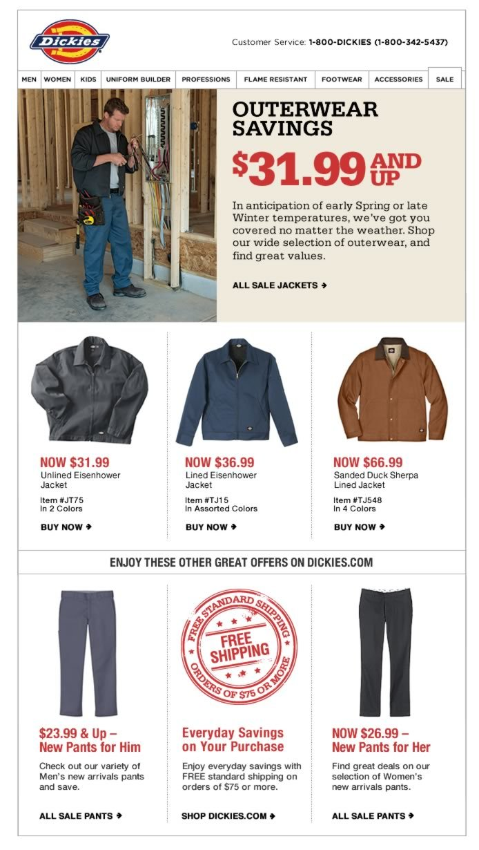 Low Temps? Low Prices - $31.99 & Up Jackets