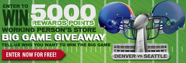 Enter For Your Chance To Win 5000 Rewards Points - No Purchase Necessary!