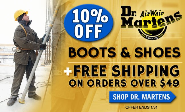 Get 10% OFF All Dr. Martens Boots & Shoes + FREE Shipping!