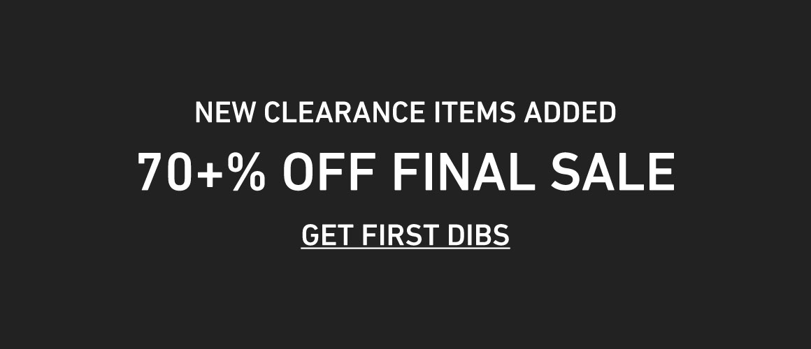 70+% off Final Sale