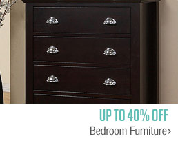 Up to 40% off Bedroom Furniture