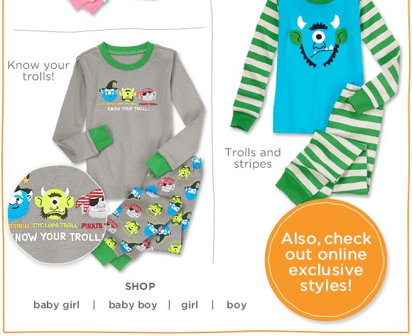 Know your trolls! Trolls and stripes. Also, check out online exclusive styles!